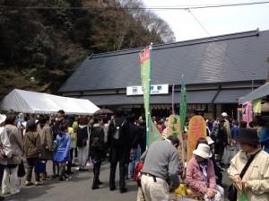 吉野駅大混雑