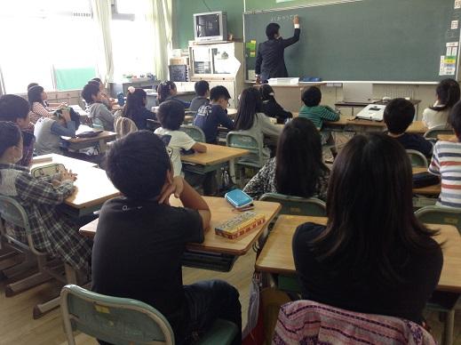 授業参観:長男(平成27年10月)