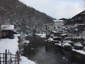 大沢温泉雪