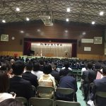 中学校入学式:長男