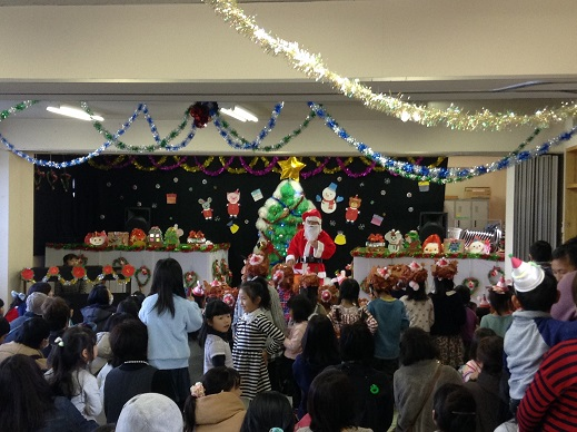 クリスマス会:保育園(平成27年)