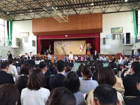 入学式:次男