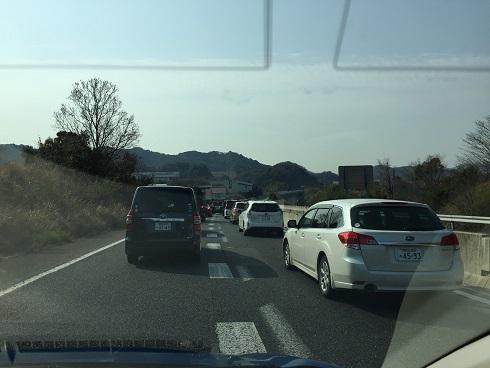 アドベンチャーワールドへは選択ミスで渋滞(平成29年3月)