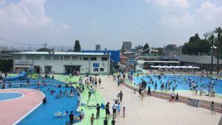 酷暑の8月にひらかたパークのプール