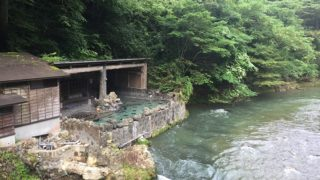 長男との二人旅大沢温泉滞在中(令和二年夏)
