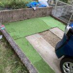 DIYで駐車場の土の部分を処理